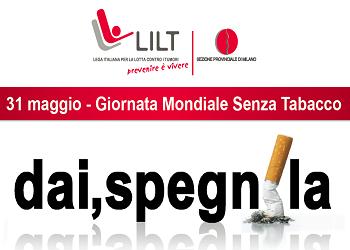 Giornata mondiale senza tabacco LILT
