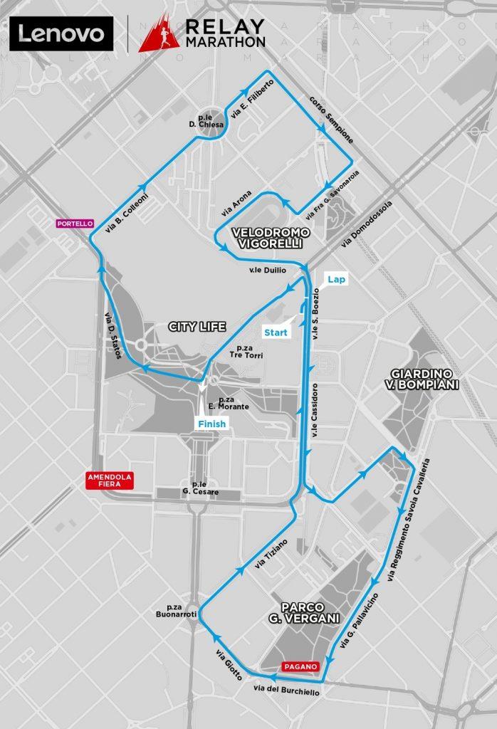Milano Marathon 2021 - Percorso