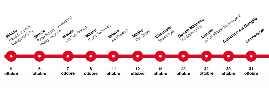 Le tappe dell'Opening Tour 2021